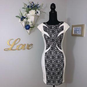 Dresses & Skirts - Flattering lace sheath dress. Like new. Size Small